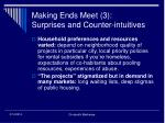 making ends meet 3 surprises and counter intuitives