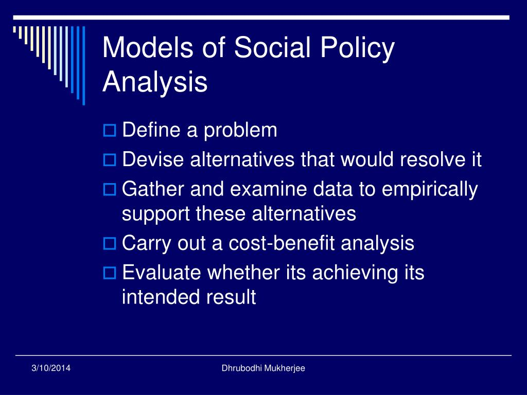 Models of Social Policy Analysis