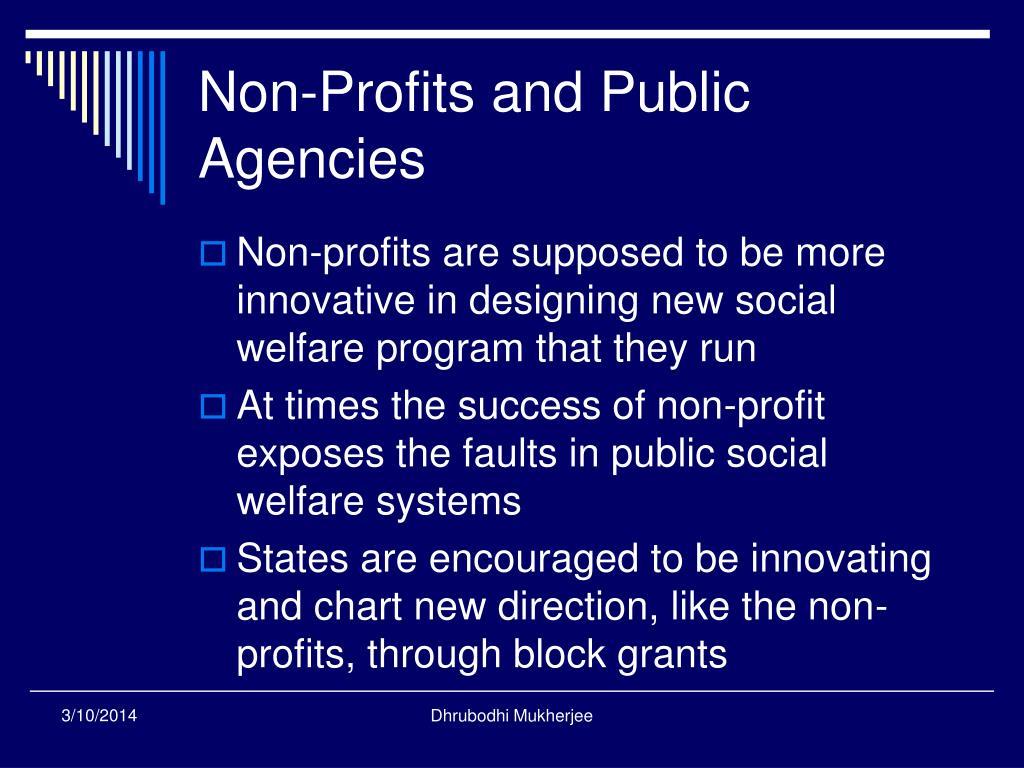 Non-Profits and Public Agencies