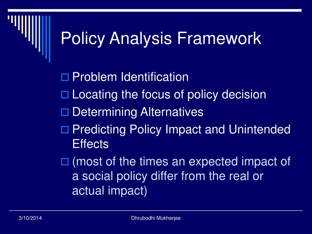 Policy Analysis Framework