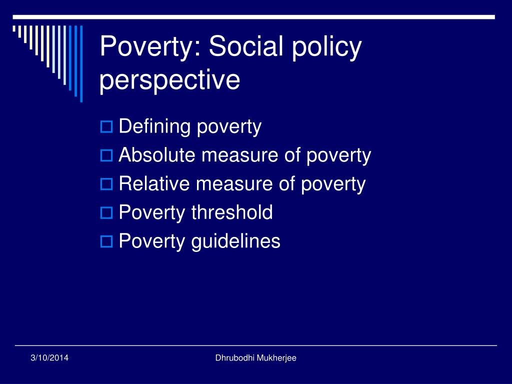 Poverty: Social policy perspective