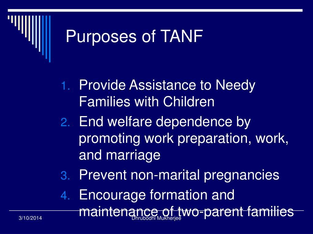 Purposes of TANF