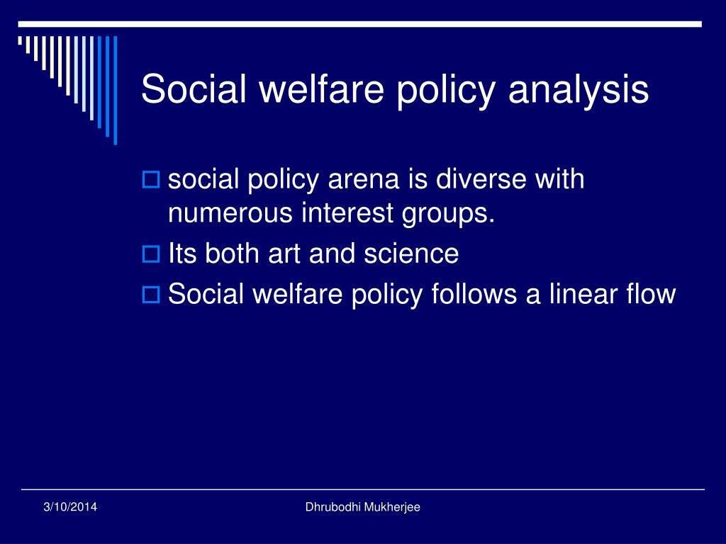 Social welfare policy analysis