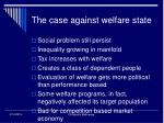 the case against welfare state