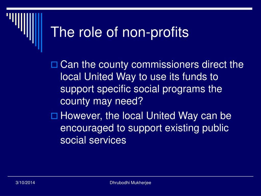 The role of non-profits