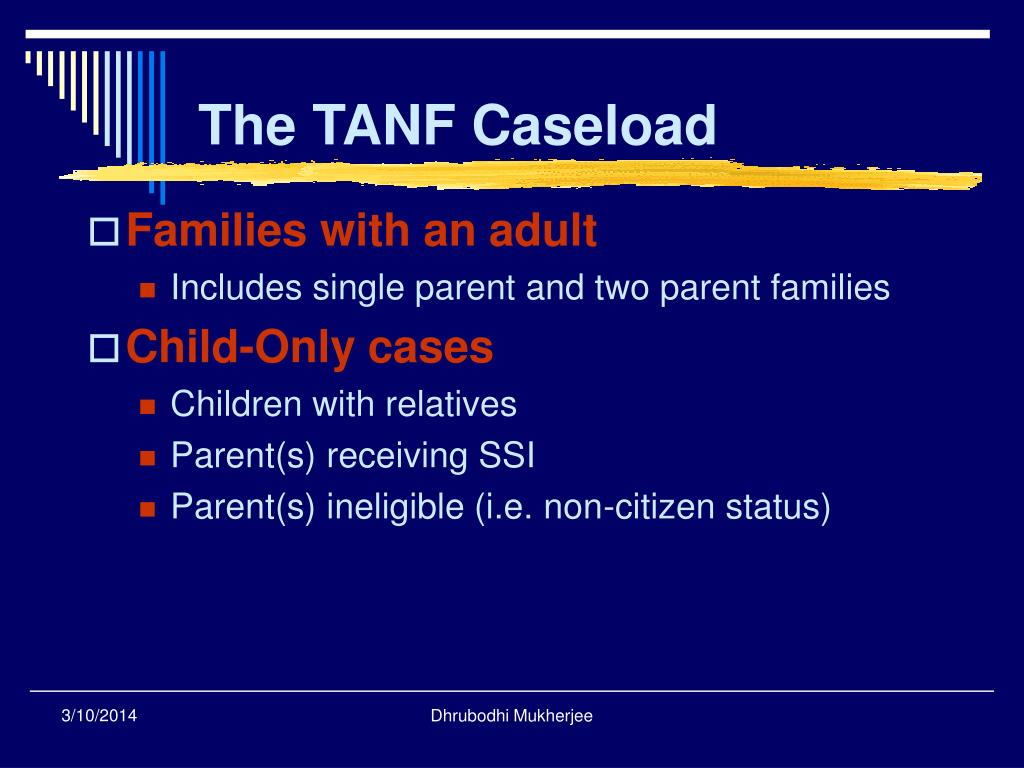 The TANF Caseload