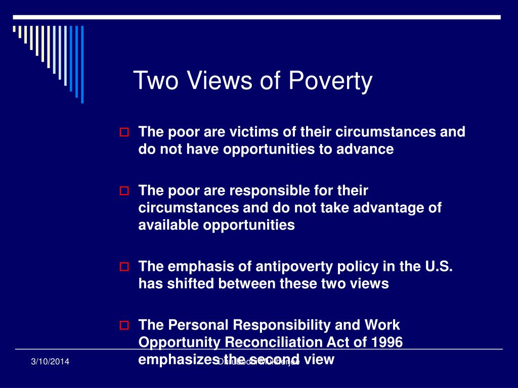 Two Views of Poverty