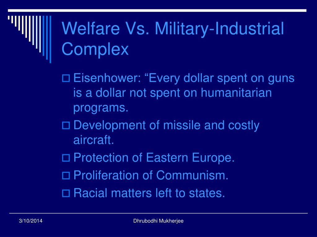 Welfare Vs. Military-Industrial Complex