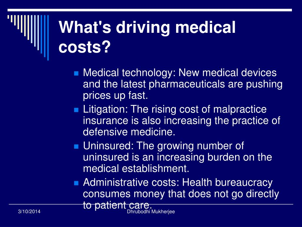 What's driving medical costs?