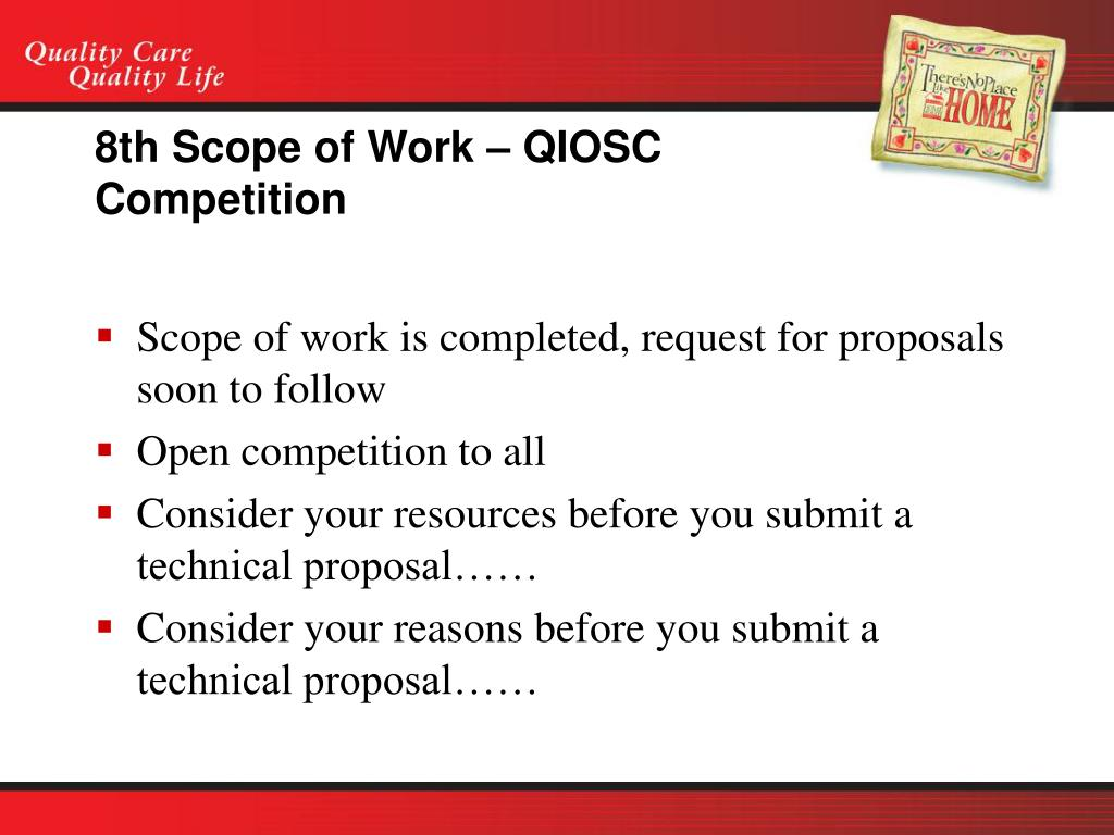 8th Scope of Work – QIOSC Competition