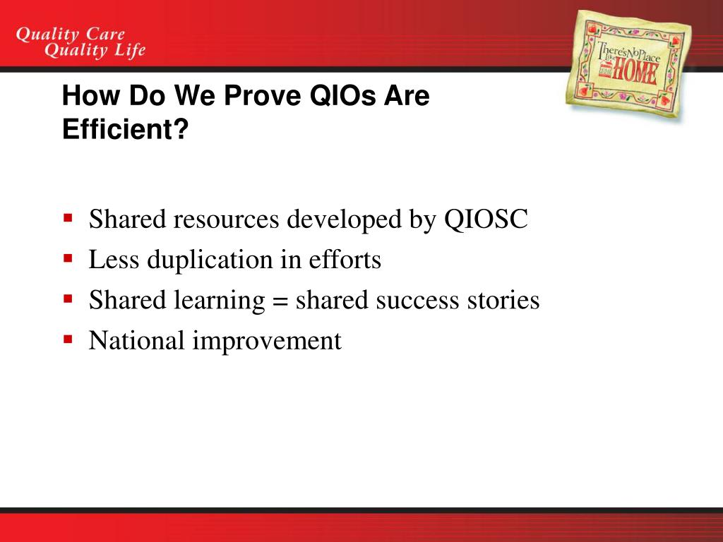 How Do We Prove QIOs Are Efficient?
