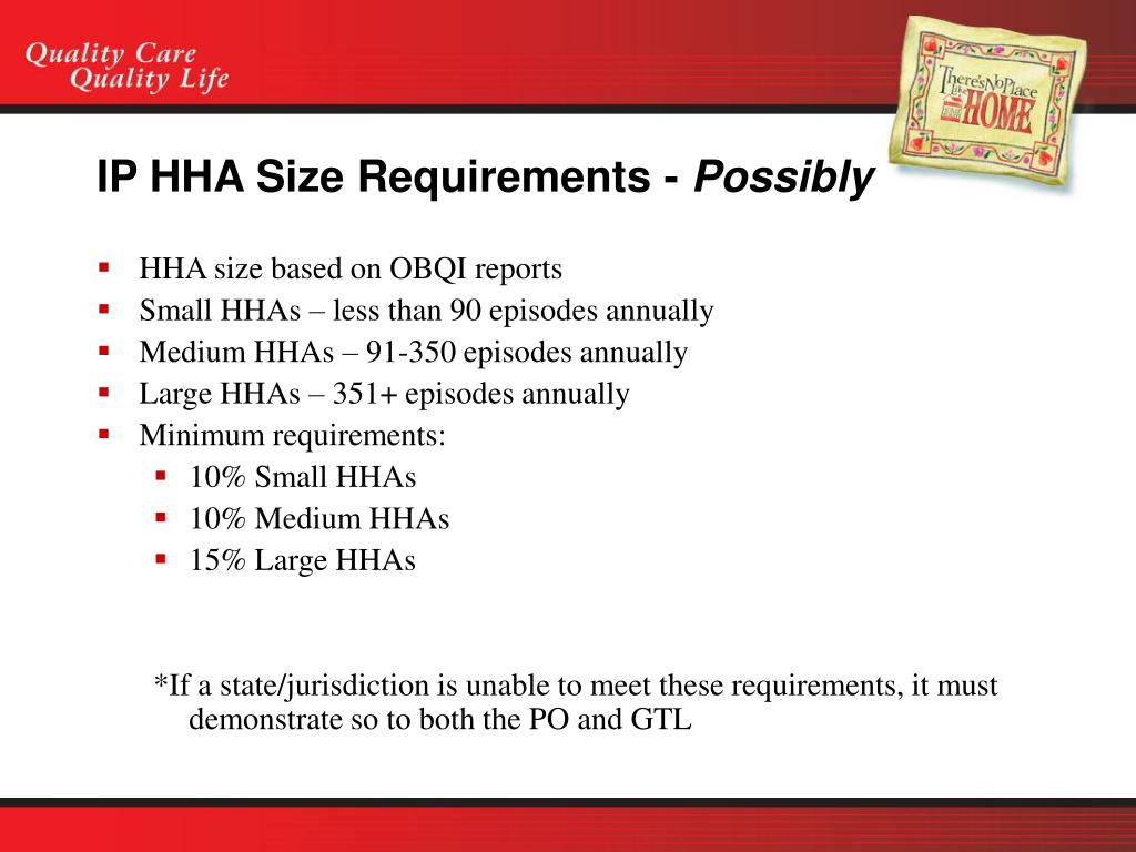 IP HHA Size Requirements -