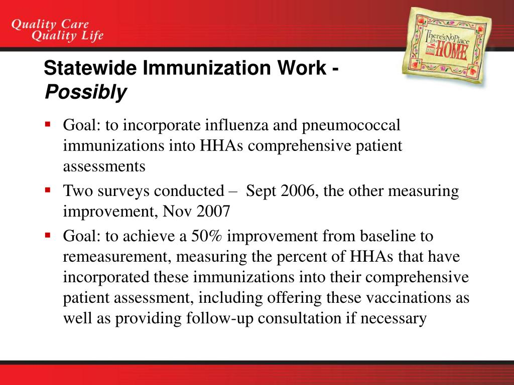 Statewide Immunization Work -