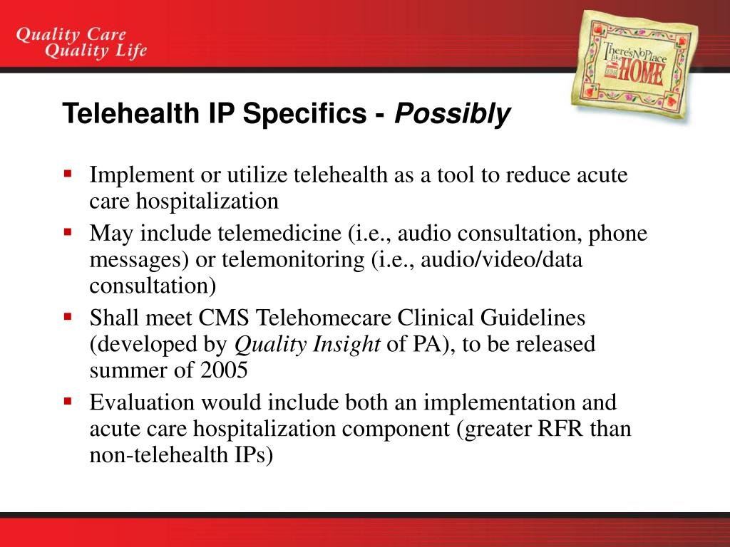 Telehealth IP Specifics -