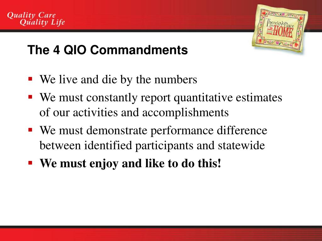 The 4 QIO Commandments