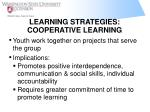 learning strategies cooperative learning