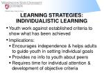 learning strategies individualistic learning