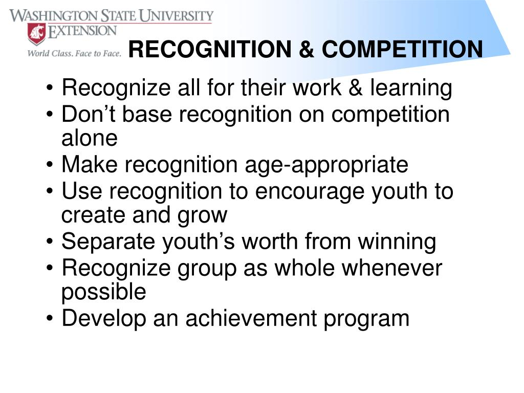Recognize all for their work & learning