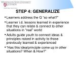 step 4 generalize