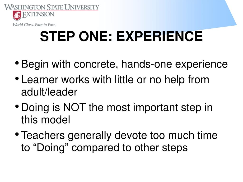 Begin with concrete, hands-one experience