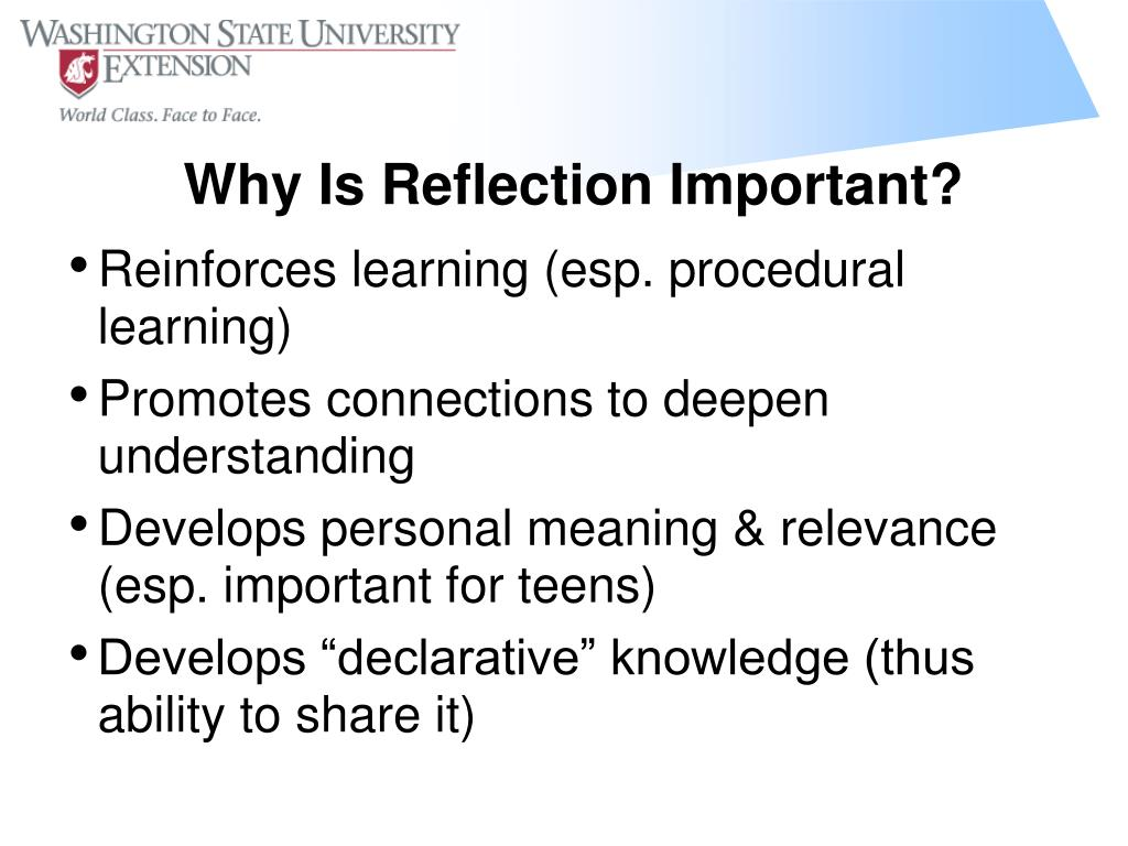 Reinforces learning (esp. procedural learning)