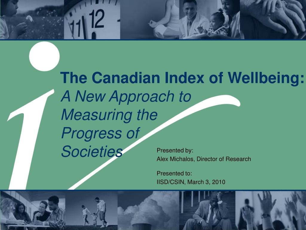 The Canadian Index of Wellbeing: