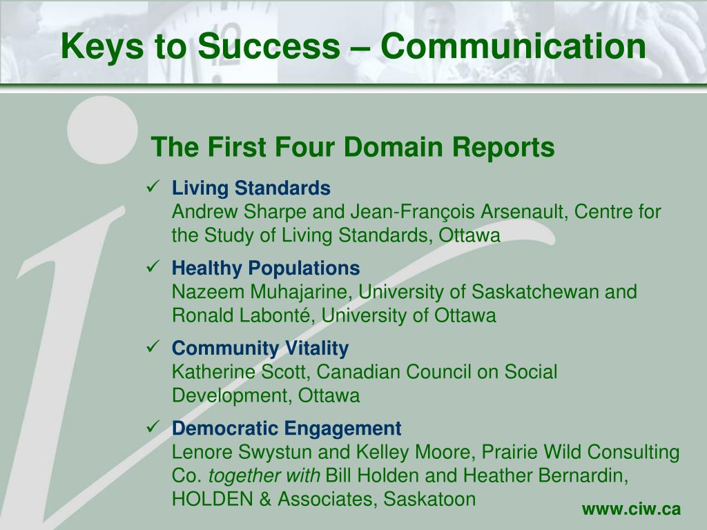 Keys to Success – Communication