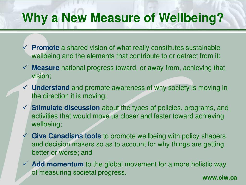 Why a New Measure of Wellbeing?