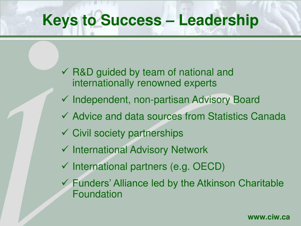 Keys to Success – Leadership