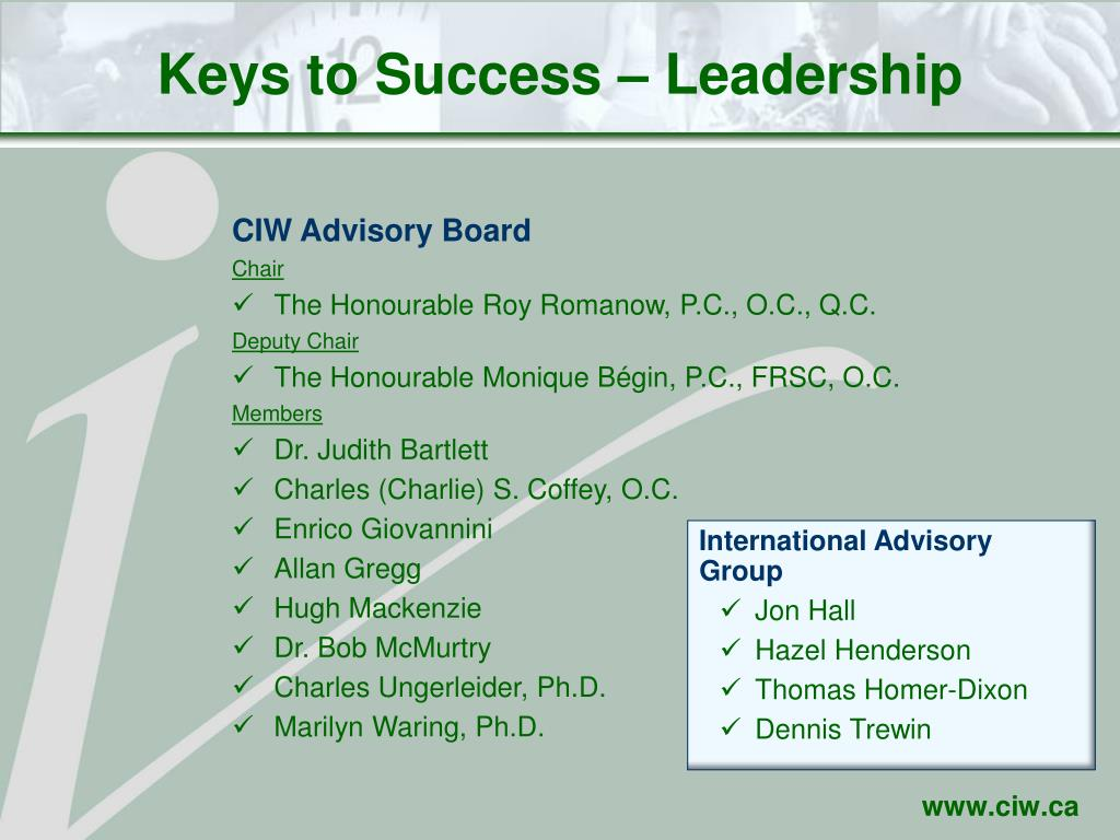 Keys to Success – Leadership