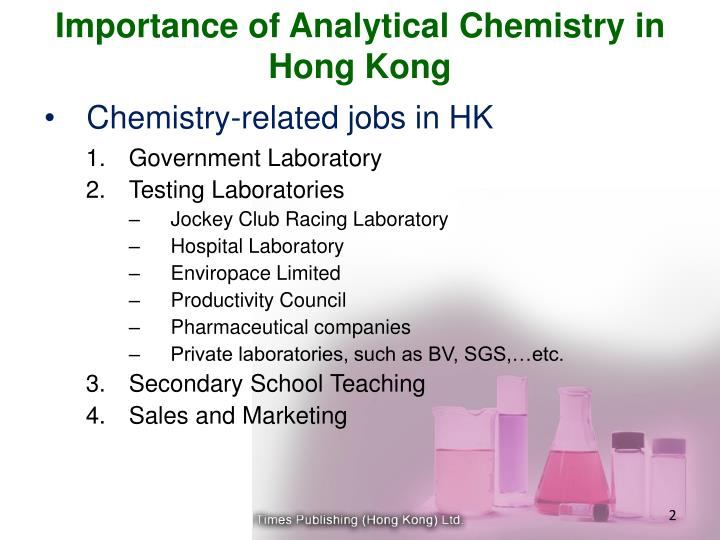 Importance of analytical chemistry in hong kong