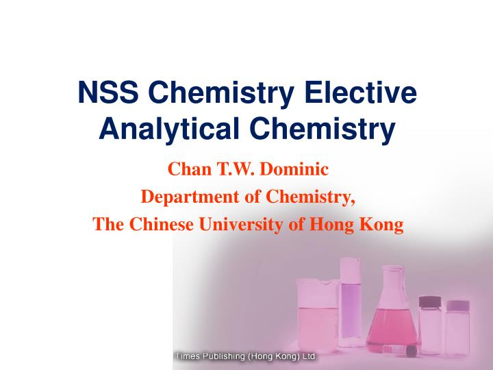 NSS Chemistry Elective