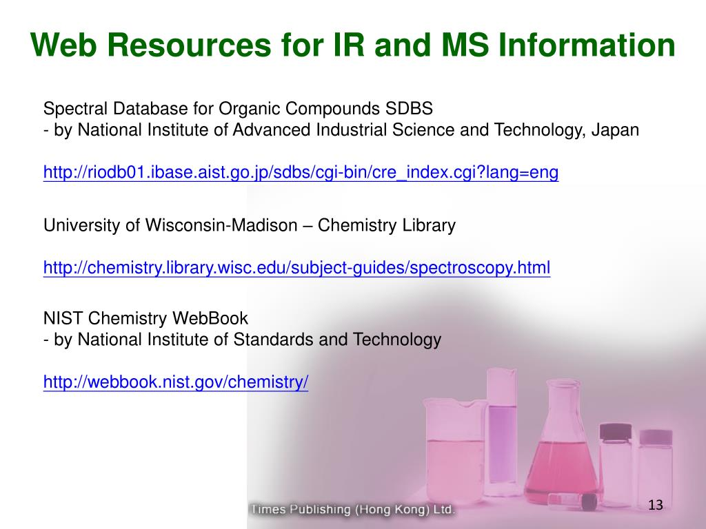 Web Resources for IR and MS