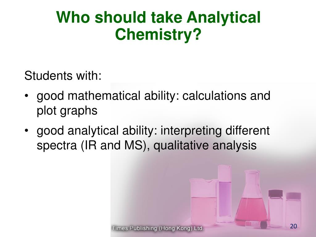 Who should take Analytical Chemistry?