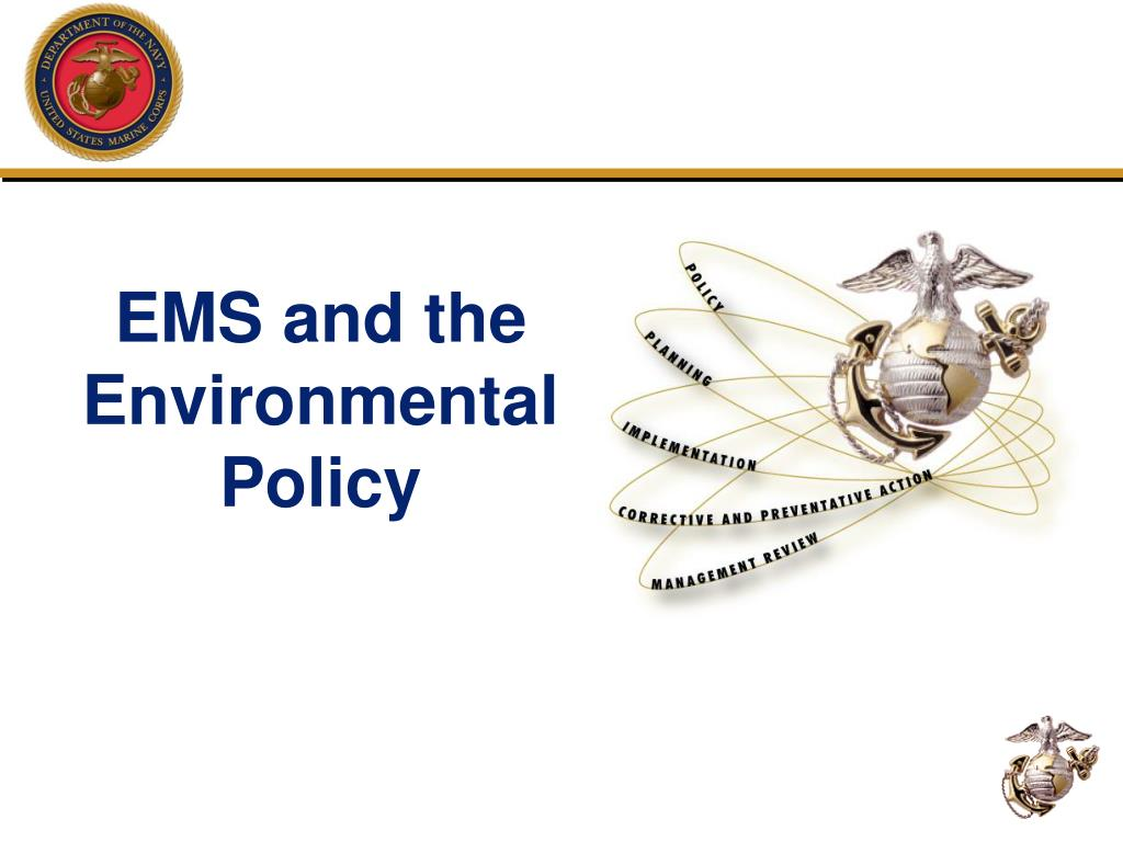 EMS and the Environmental Policy