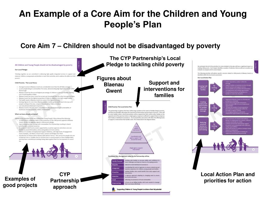 An Example of a Core Aim for the Children and Young People's Plan