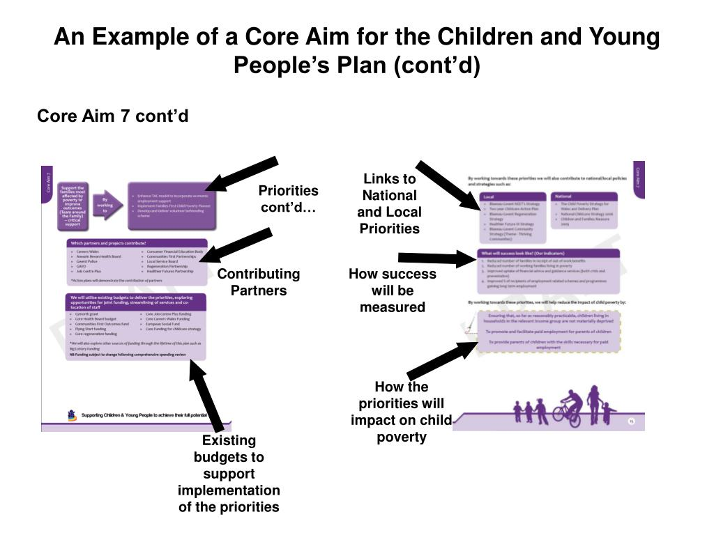 An Example of a Core Aim for the Children and Young People's Plan (cont'd)