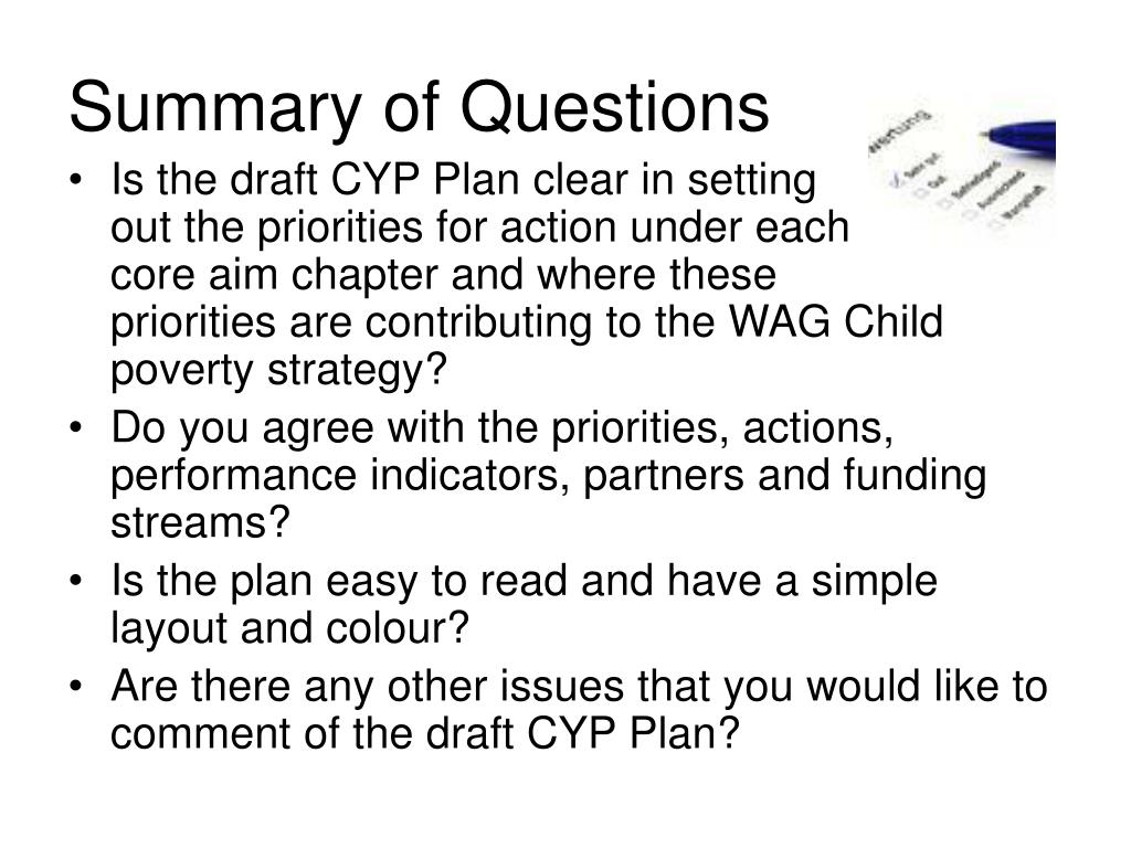 Summary of Questions