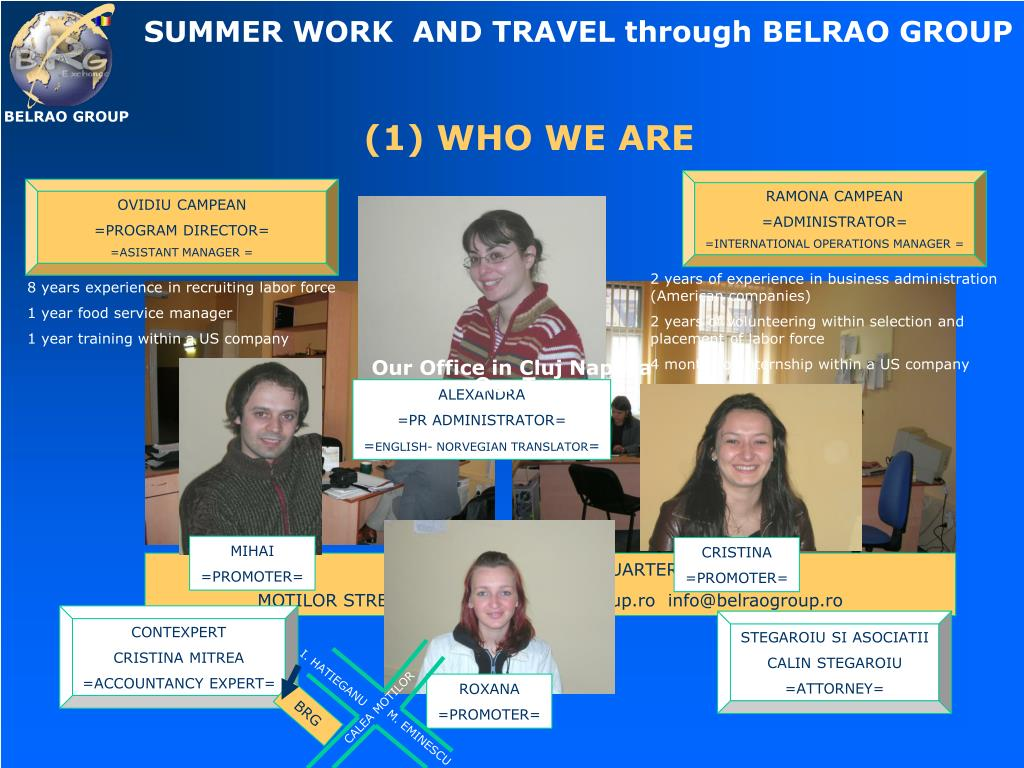 SUMMER WORK  AND TRAVEL through BELRAO GROUP