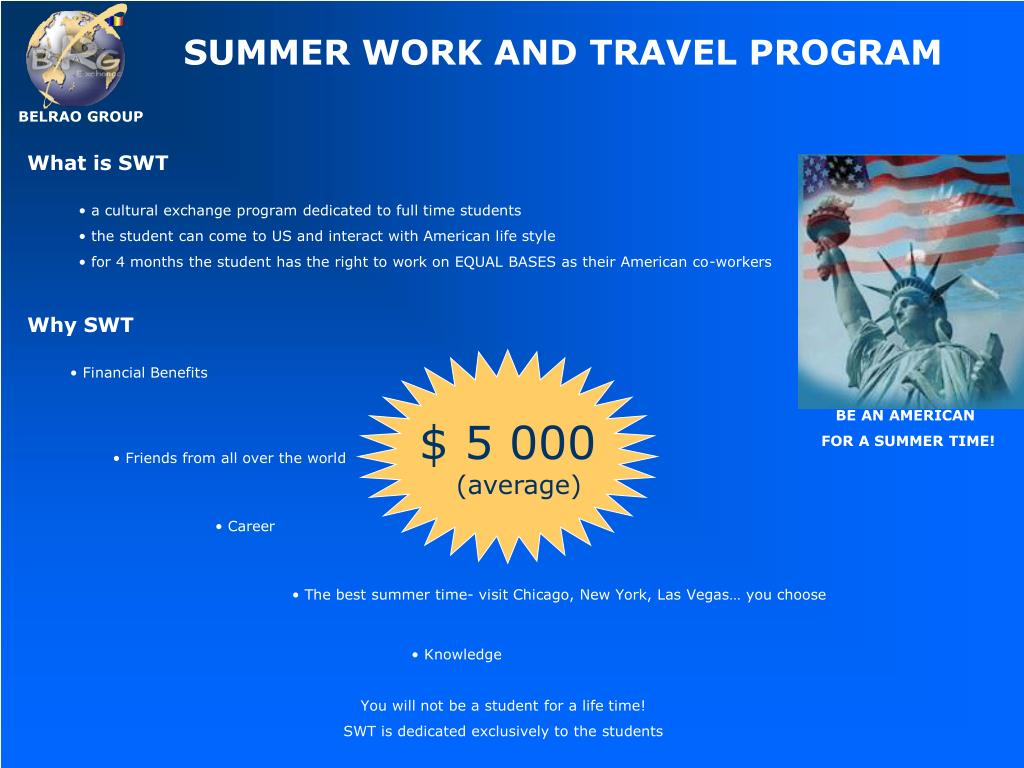 SUMMER WORK AND TRAVEL PROGRAM