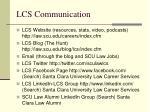 lcs communication