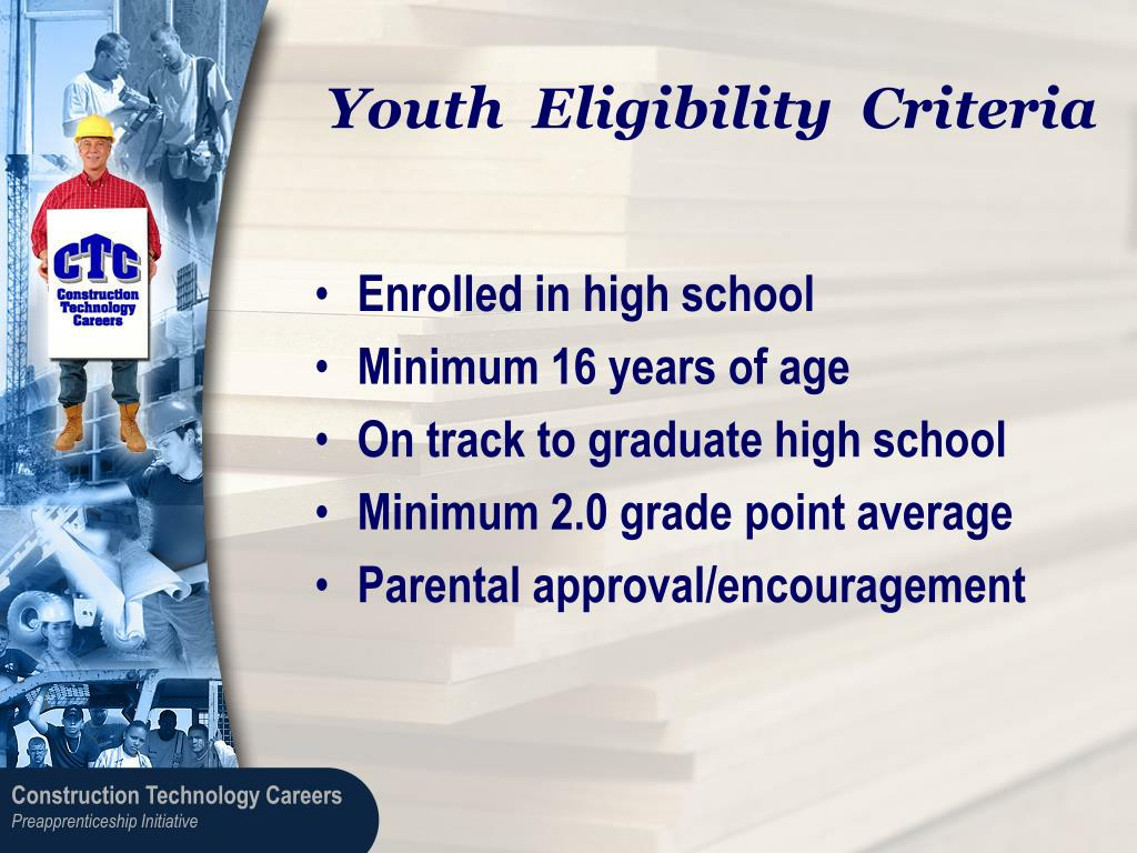 Youth  Eligibility  Criteria