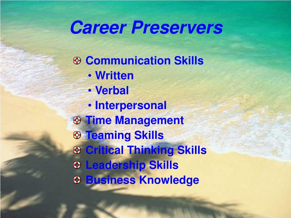 Career Preservers