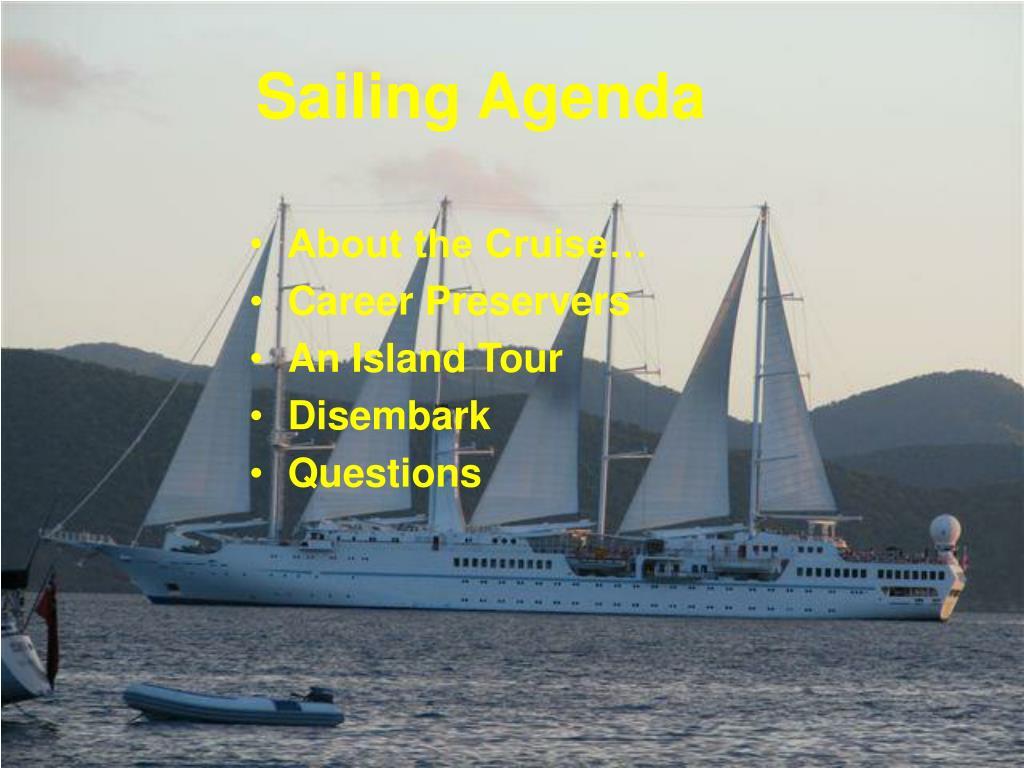 Sailing Agenda