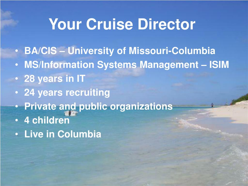 Your Cruise Director