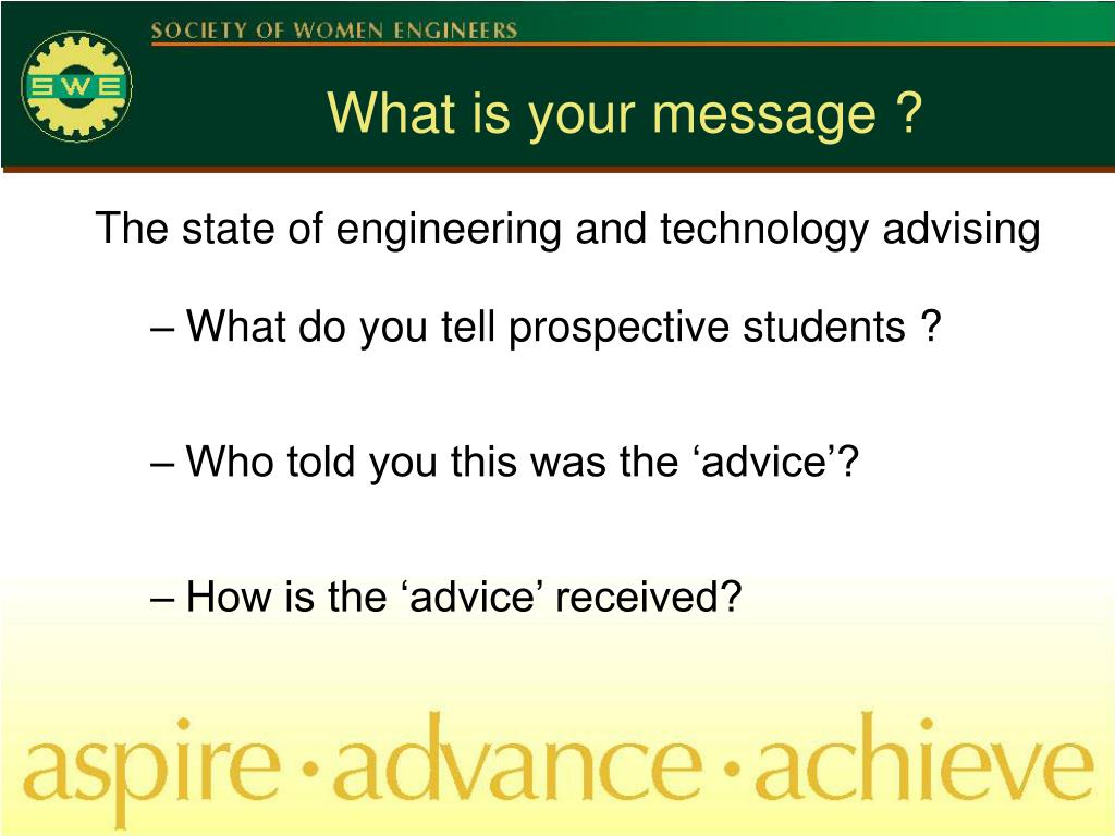 What is your message ?
