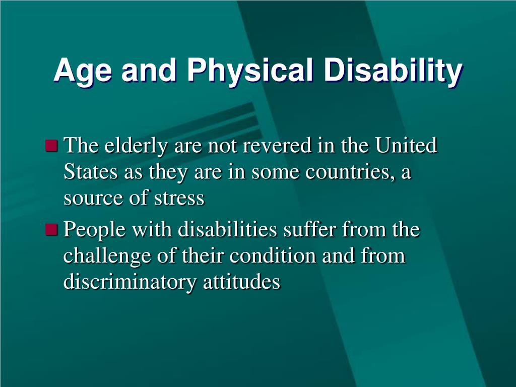 Age and Physical Disability
