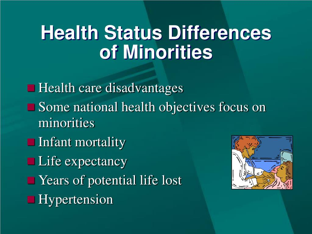 Health Status Differences of Minorities
