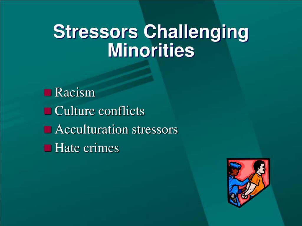 Stressors Challenging Minorities