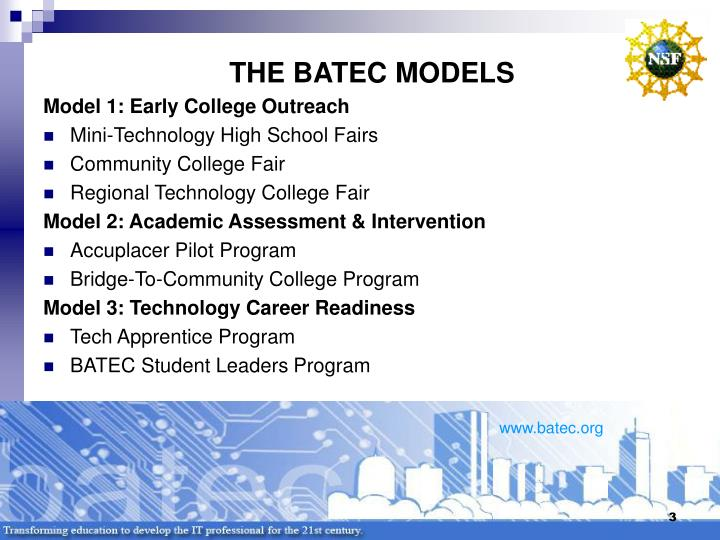 The batec models